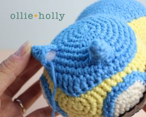 Free Dunsparce Pokemon Amigurumi Crochet Pattern Step 23