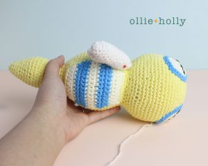 Free Dunsparce Pokemon Amigurumi Crochet Pattern Step 25