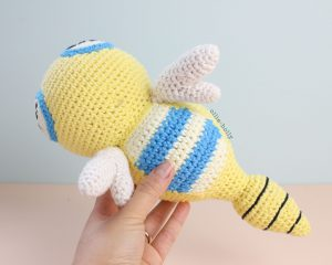 Free Dunsparce Pokemon Amigurumi Crochet Pattern Step 28