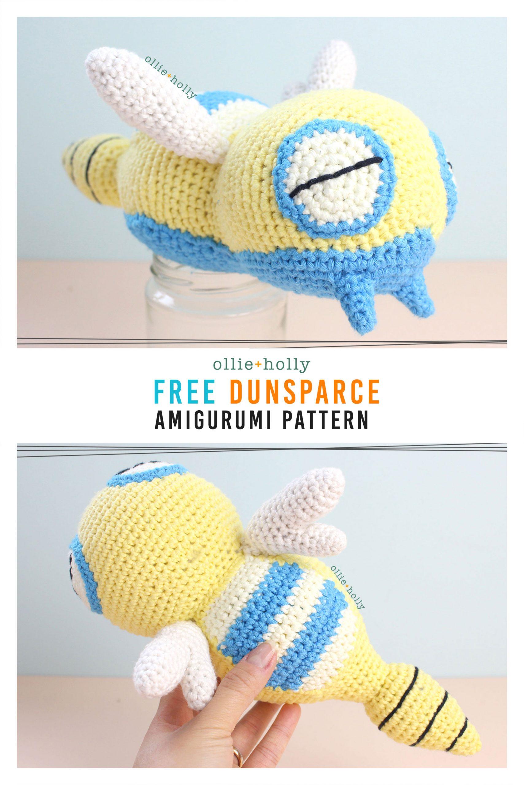 Free Dunsparce Pokemon Amigurumi Crochet Pattern