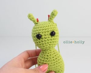 Free Allen The Space Alien Amigurumi Crochet Pattern Step 3
