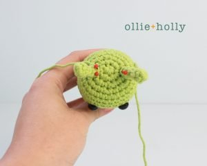 Free Allen The Space Alien Amigurumi Crochet Pattern Step 4