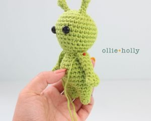 Free Allen The Space Alien Amigurumi Crochet Pattern Step 5