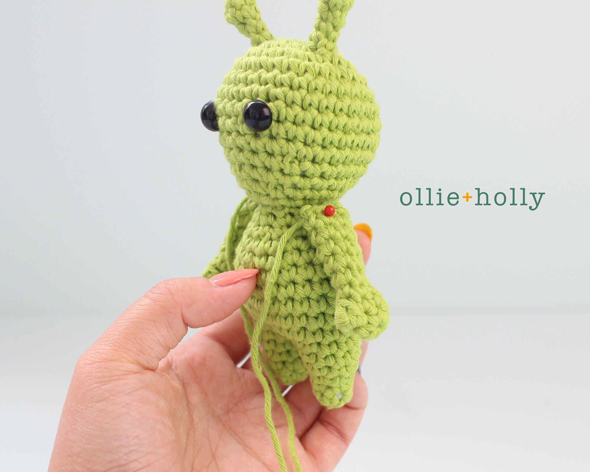 Free Allen The Space Alien Amigurumi Crochet Pattern Step 5