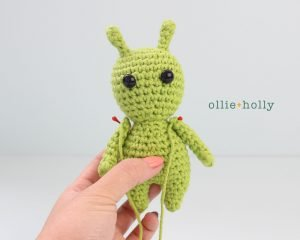 Free Allen The Space Alien Amigurumi Crochet Pattern Step 6