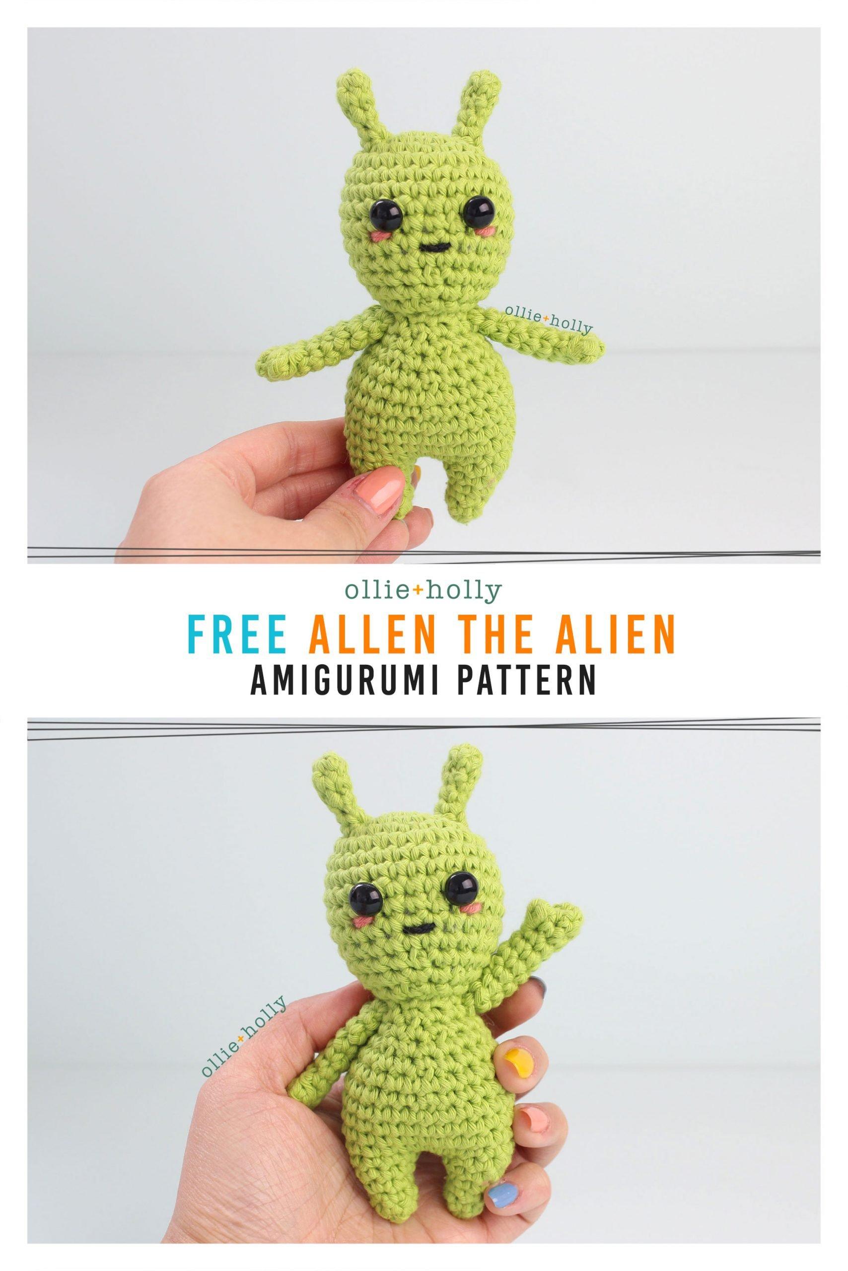 Free Allen The Space Alien Amigurumi Crochet Pattern
