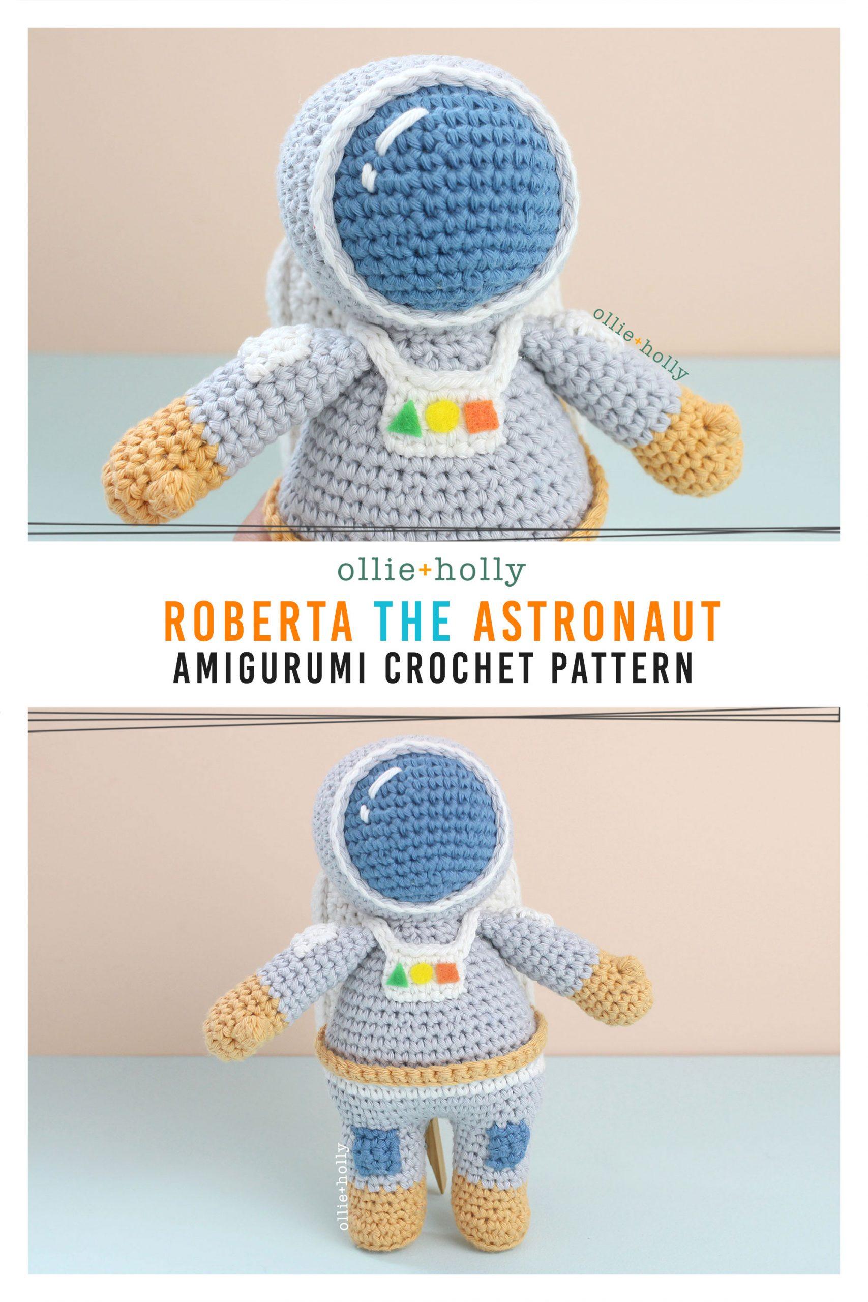 Roberta the Astronaut Amigurumi Crochet Pattern