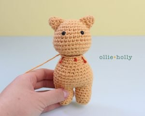 Free Nurse Cat Stuffed Animal Amigurumi Crochet Pattern Step 16