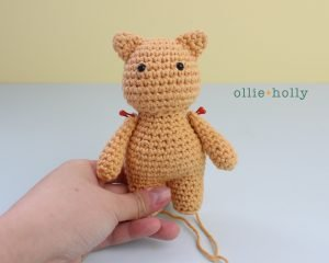 Free Nurse Cat Stuffed Animal Amigurumi Crochet Pattern Step 17