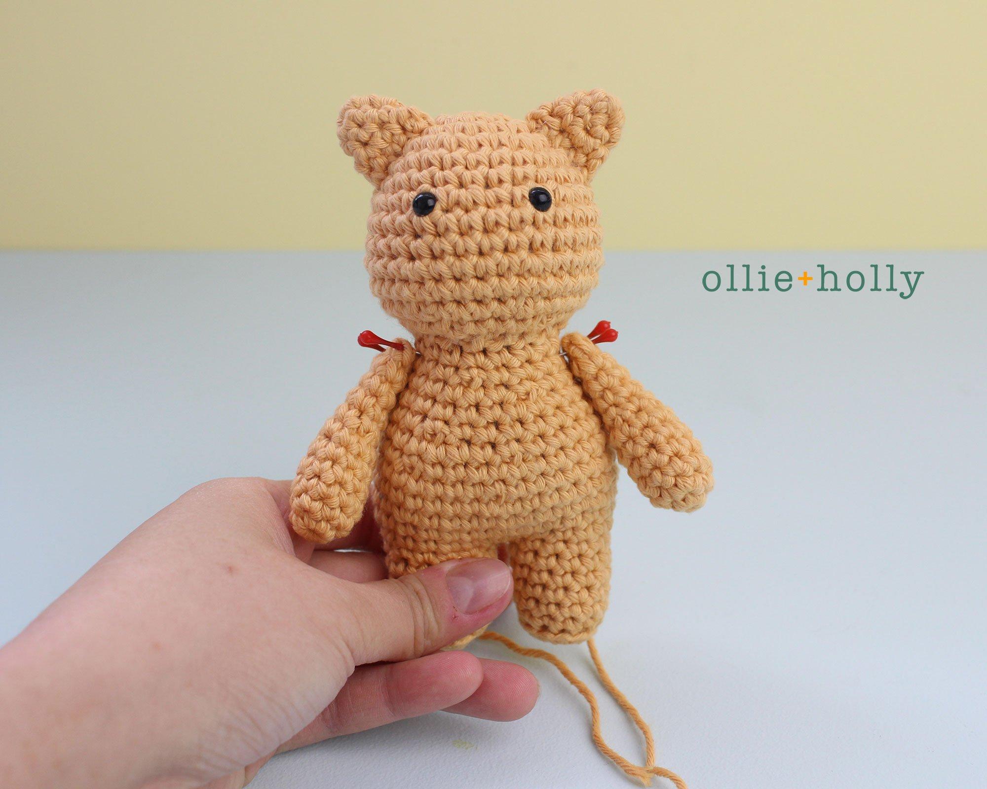 Free Nurse Cat Stuffed Animal Amigurumi Crochet Pattern Step 17