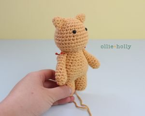 Free Nurse Cat Stuffed Animal Amigurumi Crochet Pattern Step 18