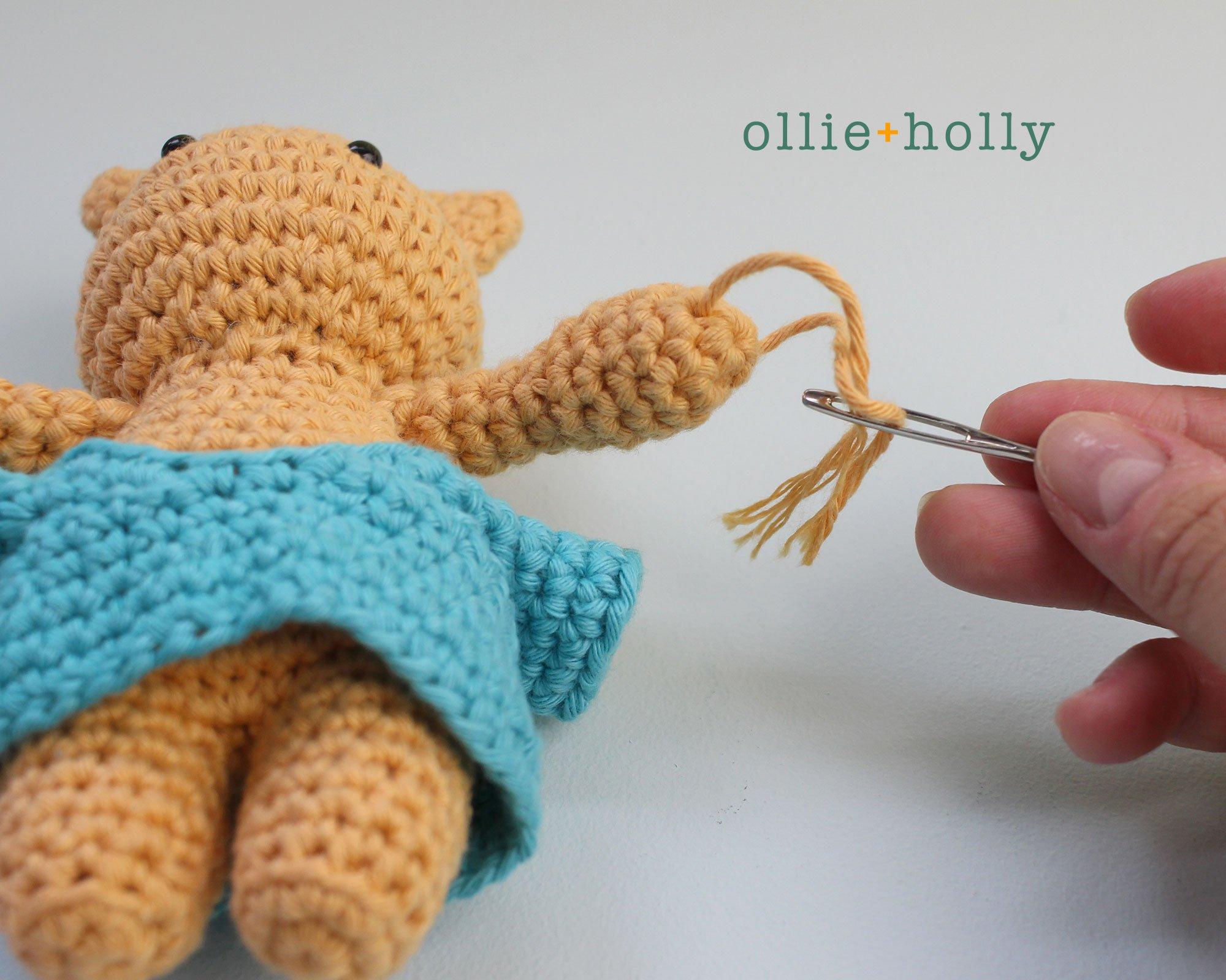 Free Nurse Cat Stuffed Animal Amigurumi Crochet Pattern Step 20
