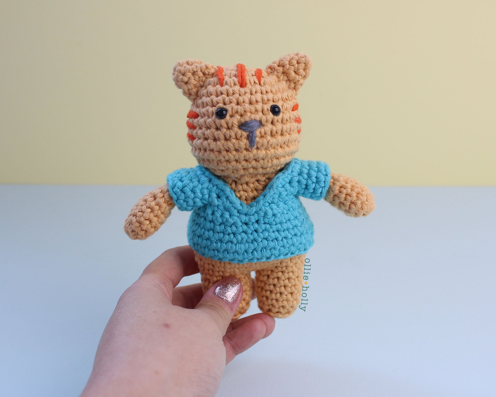 Free Nurse Cat Stuffed Animal Amigurumi Crochet Pattern Step 22