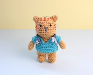 Free Nurse Cat Stuffed Animal Amigurumi Crochet Pattern Step 24