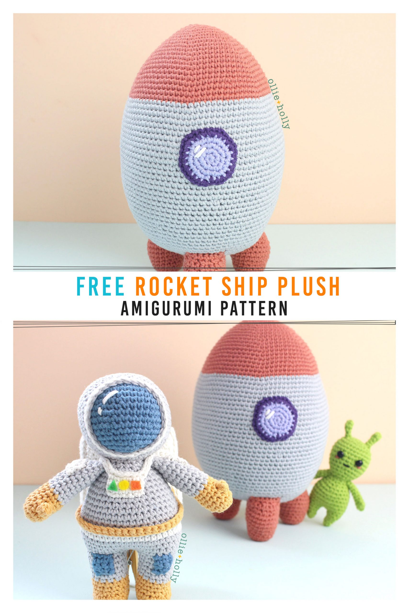 Free Rocket Ship Amigurumi Crochet Pattern