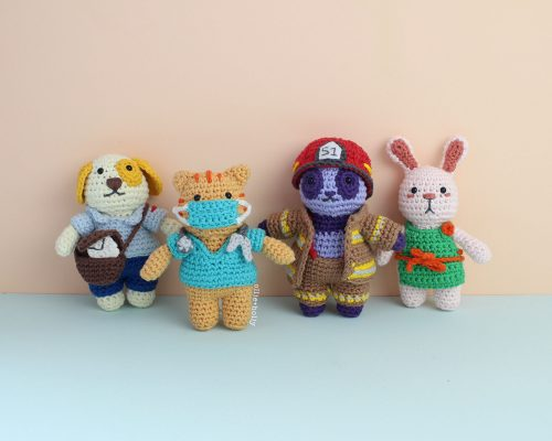Everyday Heroes Essential Workers Stuffed Animals Collection Amigurumi Crochet Pattern