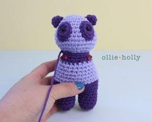 Free Firefighter Panda Stuffed Animal Amigurumi Crochet Pattern Step 34