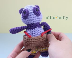 Free Firefighter Panda Stuffed Animal Amigurumi Crochet Pattern Step 44