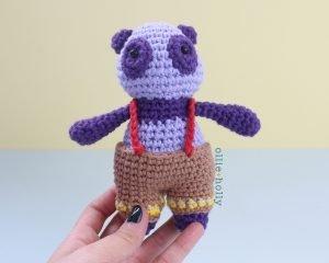 Free Firefighter Panda Stuffed Animal Amigurumi Crochet Pattern Step 45