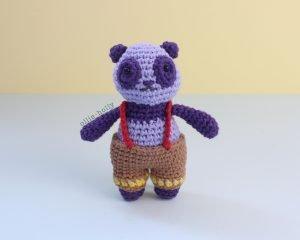 Free Firefighter Panda Stuffed Animal Amigurumi Crochet Pattern Step 46