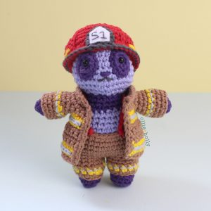 Free Firefighter Panda Stuffed Animal Amigurumi Crochet Pattern