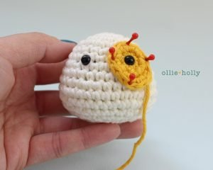 Free Postal Worker Puppy Stuffed Dog Amigurumi Crochet Pattern Step 14