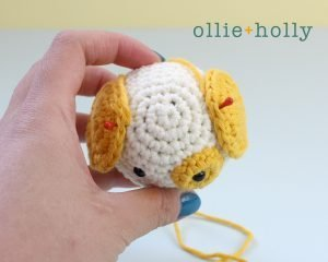 Free Postal Worker Puppy Stuffed Dog Amigurumi Crochet Pattern Step 17
