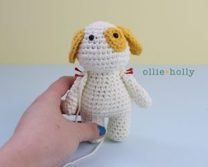 Free Postal Worker Puppy Stuffed Dog Amigurumi Crochet Pattern Step 19