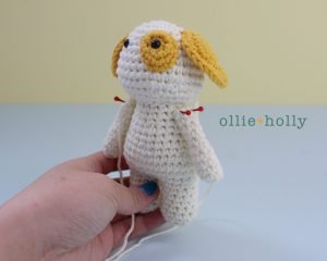 Free Postal Worker Puppy Stuffed Dog Amigurumi Crochet Pattern Step 20