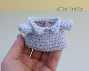 Free Postal Worker Puppy Stuffed Dog Amigurumi Crochet Pattern Step 9