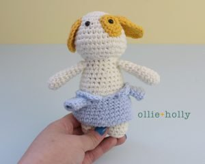 Free Postal Worker Puppy Stuffed Dog Amigurumi Crochet Pattern Step 21