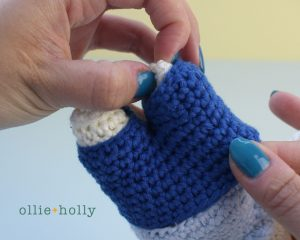 Free Postal Worker Puppy Stuffed Dog Amigurumi Crochet Pattern Step 23