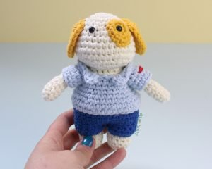 Free Postal Worker Puppy Stuffed Dog Amigurumi Crochet Pattern Step 24