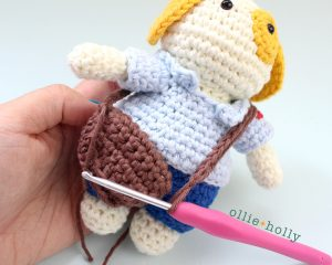 Free Postal Worker Puppy Stuffed Dog Amigurumi Crochet Pattern Step 27