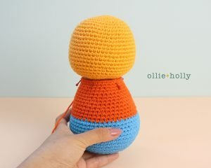 Free Self-Care Claire (Mr. Frond's Therapy Dolls from Bob's Burgers) Amigurumi Crochet Pattern Step 7