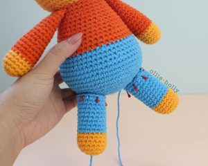 Free Self-Care Claire (Mr. Frond's Therapy Dolls from Bob's Burgers) Amigurumi Crochet Pattern Step 10