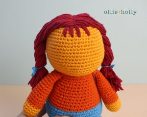 Free Self-Care Claire (Mr. Frond's Therapy Dolls from Bob's Burgers) Amigurumi Crochet Pattern Step 15