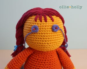 Free Self-Care Claire (Mr. Frond's Therapy Dolls from Bob's Burgers) Amigurumi Crochet Pattern Step 16