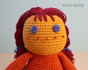 Free Self-Care Claire (Mr. Frond's Therapy Dolls from Bob's Burgers) Amigurumi Crochet Pattern Step 17