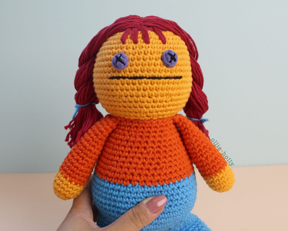Free Self-Care Claire (Mr. Frond's Therapy Dolls from Bob's Burgers) Amigurumi Crochet Pattern Step 18