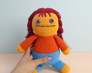 Free Self-Care Claire (Mr. Frond's Therapy Dolls from Bob's Burgers) Amigurumi Crochet Pattern Finished