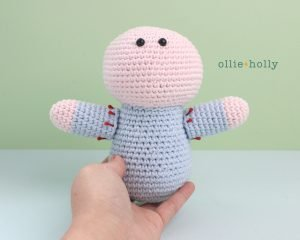Free Repressed Memory Emily (Mr. Frond's Therapy Dolls from Bob's Burgers) Amigurumi Crochet Pattern Step 20