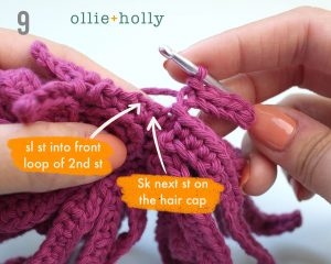 Free Repressed Memory Emily (Mr. Frond's Therapy Dolls from Bob's Burgers) Amigurumi Crochet Pattern Step 5
