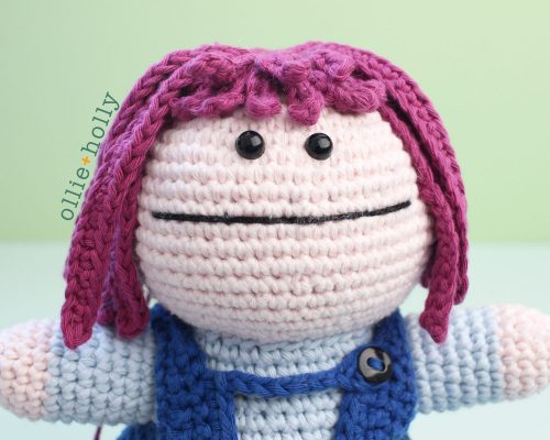 Free Repressed Memory Emily (Mr. Frond's Therapy Dolls from Bob's Burgers) Amigurumi Crochet Pattern Finished