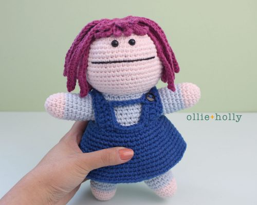 Free Repressed Memory Emily (Mr. Frond's Therapy Dolls from Bob's Burgers) Amigurumi Crochet Pattern
