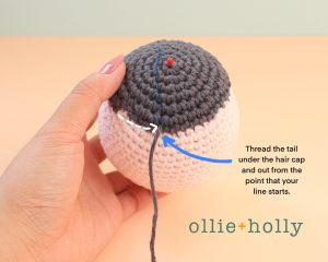 Free Miss Understood (Mr. Frond's Therapy Dolls from Bob's Burgers) Amigurumi Crochet Pattern Step 8