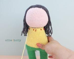 Free Miss Understood (Mr. Frond's Therapy Dolls from Bob's Burgers) Amigurumi Crochet Pattern Step 13