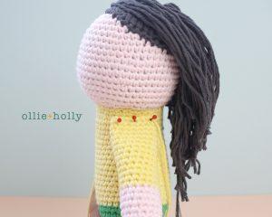 Free Miss Understood (Mr. Frond's Therapy Dolls from Bob's Burgers) Amigurumi Crochet Pattern Step 14