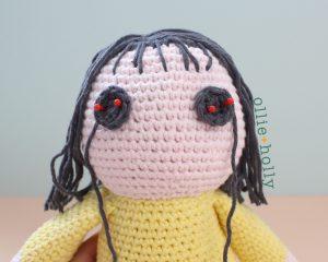 Free Miss Understood (Mr. Frond's Therapy Dolls from Bob's Burgers) Amigurumi Crochet Pattern Step 16