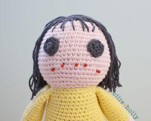 Free Miss Understood (Mr. Frond's Therapy Dolls from Bob's Burgers) Amigurumi Crochet Pattern Step 17